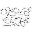 sketch arrow set vector image vector image