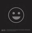 smiley icon face icon - black creative background vector image vector image