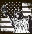 statue liberty symbol new york and us vector image