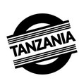 tanzania stamp on white stamp on white vector image