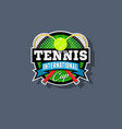 tennis emblem or logo vector image