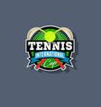 tennis emblem or logo vector image vector image