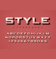 the style trendy retro display font design vector image vector image