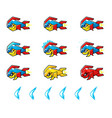 trooper fish robot enemy game sprites vector image vector image