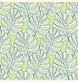tropical leaves seamless pattern nature foliage vector image vector image