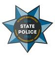 usa sheriff badge icon vector image