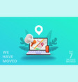 we have moved concept vector image vector image