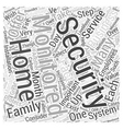 Why Select Monitored Security for your Home or vector image vector image