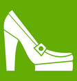 women shoes on platform icon green vector image vector image