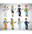 professions cartoon set vector image