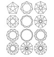 set of geometric shapes sacred geometry lines vector image