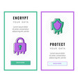 vertical banners about secure and protect vector image