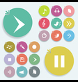 Play signs vector image