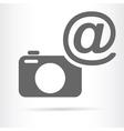 camera with e mail symbol icon vector image