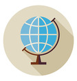 Flat Science and Education Geography World Globe vector image