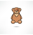 Smiling bear vector image