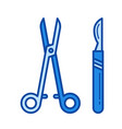 surgical instruments line icon vector image