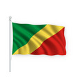 3d waving flag republic congo isolated on white