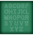 A to Z Uppercase alphabet handrawn vector image
