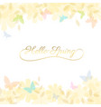 abstract spring summer background in light pastel vector image vector image