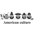 American culture vector image vector image