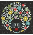 Black head young and pretty girl with creative vector image vector image