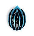 blue and black bicycle equipment bike helmet icon vector image