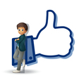 boy and thumb vector image vector image
