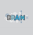 brain thinking creative word over abstract vector image vector image