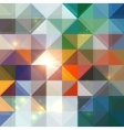 Bright abstract shining triangles background vector image