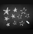 chalk drawn stars vector image
