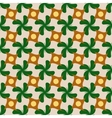 Circle and flower rhombus seamless pattern vector image