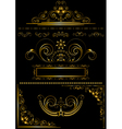 Collection gold frames and calligraphic patterns vector image vector image