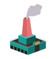colorful silhouette of industry with fireplace vector image