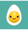 cute kawaii egg breakfast icon design vector image