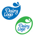 dairy food product logos vector image vector image