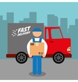 Delivery design Shipping icon Flat vector image vector image