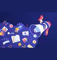digital marketing promotion web campaign vector image
