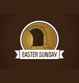 easter sunday holy week vector image vector image