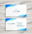 elegant blue white business card design vector image vector image