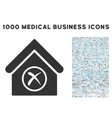 Erase Building Icon with 1000 Medical Business vector image vector image