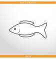fish web flat icon vector image