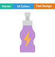 Flat design icon of Energy drinks bottle vector image vector image