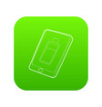 gadget charging battery icon green vector image vector image
