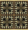 gold 3d checkered ornamental greek seamless vector image vector image