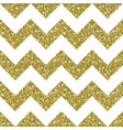 gold glitter chevron pattern background vector image vector image