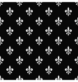 Golden fleur-de-lis seamless pattern black 7 vector image vector image