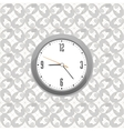 grey clock on wall pattern style background vector image vector image
