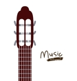 handle acoustic guitar isolated icon design vector image vector image