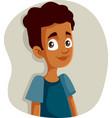 happy smiling african teen boy vector image